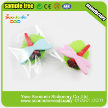 SOODODOステーショナリーギフトセットCute Insects Rubber Eraser