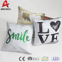 2018 wholesale full piece mermaid sequins cushion with customized design