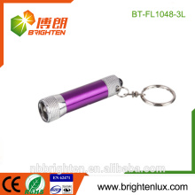 Best-selling Cheap Mini Size Aluminum Material 3 Led Flashlight Promotional OEM Colorful custom keychain for gift