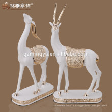 new design high quality resin deer figurine for home accessories decoration
