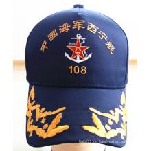 Hochwertige, benutzerdefinierte, gestickte Militärsport Caps