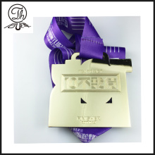 Wholesale Sport Marathon Running Metal Medal With Ribbon