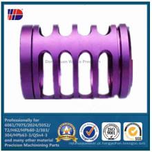 Peça de máquina anodizada precisão CNC (WKC-349)