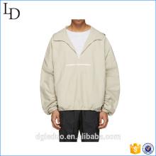 En gros de haute qualité hommes blancs lait blanc zip up hoodie