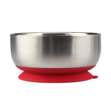 Wholesale Baby Feeding Bowl WithAirtight Red Silicone Base