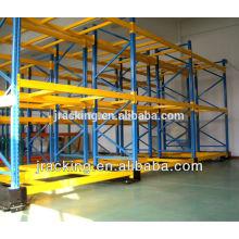 Recubrimiento en polvo y sistema de estantería móvil eléctrico para trabajos pesados