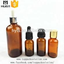 5ml 10ml Glas bernsteinfarbenes ätherisches Öl 30 ml Glastropfflasche für Aroma mit kindersicherer Kappe
