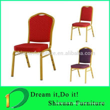 Durable Metal Stackable Steel Wedding Hotel Dining Chairs