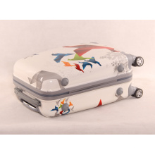 Direct Manufacturers ABS Universal Wheel Printing Origami Pattern PC Cartoon Utility Suitcase Trolley for Men and Women