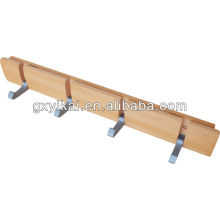 wooden hangers for wall with aluminium hook