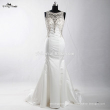 RSW906 Späteste Kleid-Entwürfe Fotos Rhinestones wulstige bloße rückseitige Handstickerei Alibaba Hochzeits-Kleid 2016 Meerjungfrau