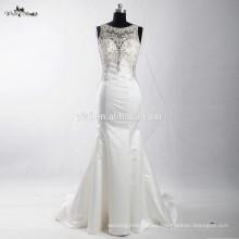 RSW906 El último vestido diseña los Rhinestones de las mujeres rebordeado trasero de la mano trasero Alibaba Wedding Dress 2016 Mermaid