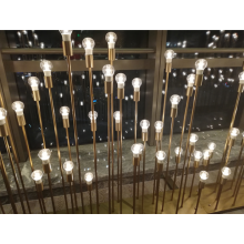 Glass copper lamp for indoor atmosphere light