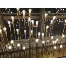 Lâmpada de cobre de vidro para luz de ambiente interno