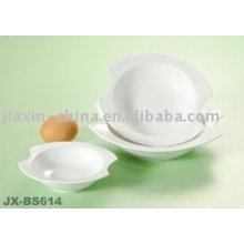 Recipiente de porcelana blanca JX-BS614
