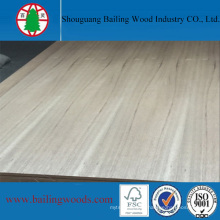 Furniture Grade Natural Teak Veneer MDF