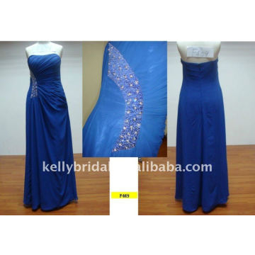 blue with side beading patterns for bridesmaids dresses sexy party dresses F449
