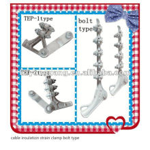 cable insulation strain clamp bolt type overhead line fitting connect fitting clamp aluminium alloy cable insulation clamp