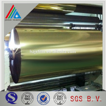 Gold metallized polyester pet film