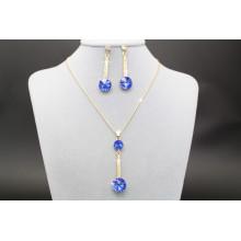 2017 Alibaba caliente azul real azul collar de oro anillo de oído