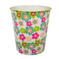 Ronda de plástico de flores impresas Open Top basura de residuos (B06-2020-5)