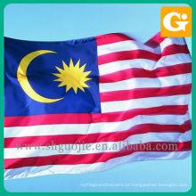 Impressão da bandeira nacional de Malaysia