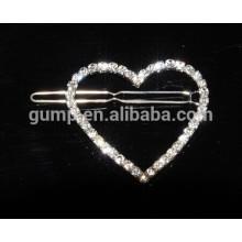 custom heart rhinestone brooch pins