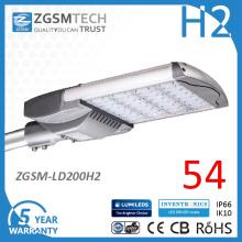 Homologation UL 200W réverbère de LED haute puissance pour l'éclairage avec flux lumineux élevé
