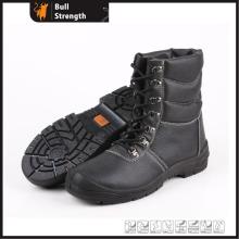 Geniune Leder Sicherheitsschuhe mit Pelzfutter und Stahlkappe (Sn5186)