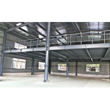 Two Floors Light Steel Structure Prefab Warehouse Workwork Metal Shed