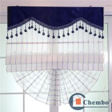 Blauer Streifen römischer Blindvorhangentwurf für Schiebefenster