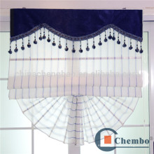 Diseño romano de la cortina de la cortina de la raya azul para la ventana deslizante