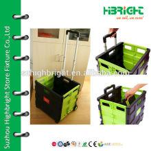 plastic foldable roll trolley