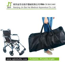 Silla de ruedas manual ligera plegable con bolsa de viaje