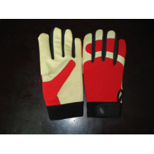 Pig Grain Leather Palm Mechanic Work Glove--7303