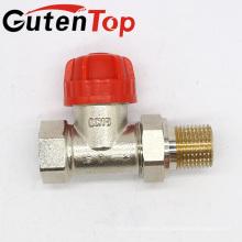 GutenTop высокое качество Латунь Ду15 прямой Радиаторный термостатический Клапан управления