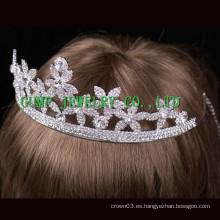 Nupcial corona de cristal Rhinestone cuentas de boda tiara