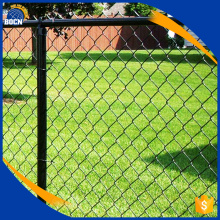Galvanized coated chain link fence