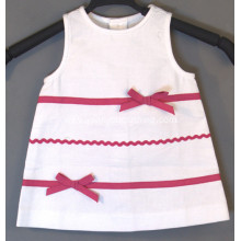 baby girl white one-piece casual dress