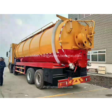 vacuum sewage suction truck wtih hydraulic pump