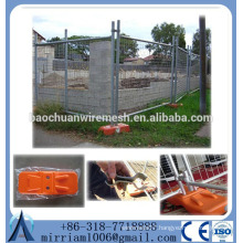Cheap hot dip galvanized chain link temporary fence panel