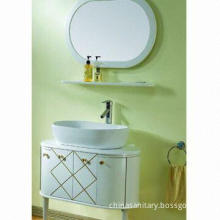 Bathroom Cabinet, Includes Porcelain Basin and Storage Shelf, Measures 818 x 490 x 830mm