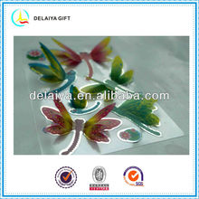 3D hologram stickers of butterfly for kids decoration