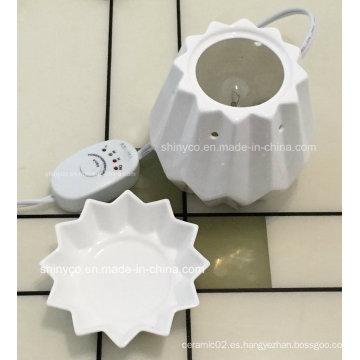Calentador eléctrico de la lámpara de la fragancia translúcido con el ajuste de la temperatura