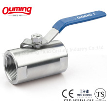 One Piece Sanitary Ball Valve with Threaded End