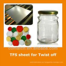 JIS estándar libre acero hojalata para envases metálicos