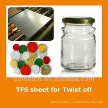 JIS standard Tin gratuit tôle d'acier pour emballages métalliques