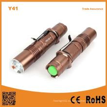 Y41 de alta potencia Xml T6 LED de aluminio antorcha recargable