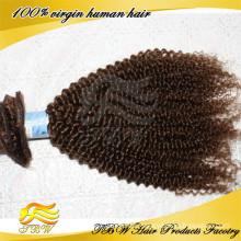 Heißer Verkauf Billig beste Qualität 120g braun Farbe Clip in einem Stück Haarverlängerung