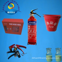Red Portable ABC Dry Powder Fire Extinguisher with Bracket